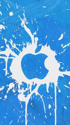 Blue doodle style picture wallpaper apple iPhone 5 – SenseiPhone.com
