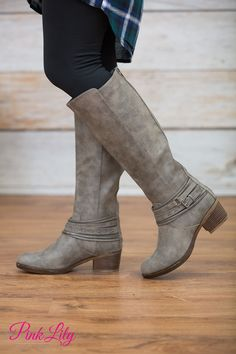 The Raelynn Boots Taupe - The Pink Lily