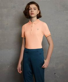 Richard Nicoll for Fred Perry orange sherbert polo