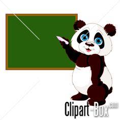 CLIPART PANDA AT SCHOOL