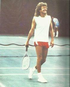 Robert Plant playing tennis -- Led Zeppelin