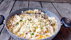 Pilaf cu carne de pui si legume, reteta clasica - YouTube Bob Lung, Paella, Fried Rice, Grains, Youtube, Dinner, Ethnic Recipes, Food, Yum Yum