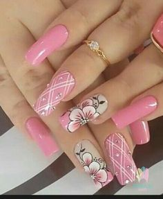 What manicure for what kind of nails? - My Nails Fancy Nails, Trendy Nails, Pink Nails, Cute Nails, My Nails, Beautiful Nail Designs, Beautiful Nail Art, Beautiful Beautiful, Fabulous Nails