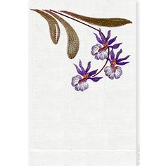Finely detailed embroidered thread paintings for which Anali is so well known. Anali's Rio design is embroidered on white linen guest towels.