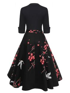 556f41fc8 Floral Patchwork Dress – Retro Stage - Chic Vintage Dresses and Accessories
