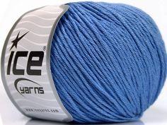 Fiber Content 60% Bamboo 40% Cotton Indigo Blue Brand Ice Yarns fnt2-50550