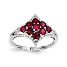 Perfect Jewelry Gift Sterling Silver Rhodium-plated Ruby Ring ** Continue to the product at the image link. (This is an affiliate link) Name Jewelry, Jewelry Gifts, Silver Ruby Ring, Ruby Rings, Morganite Engagement, Color Ring, Types Of Rings, Oval Diamond, Love Ring