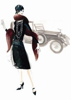 Chanel Illustrated by Richard Merritt from Shopping for vintage - published by Quadrille.