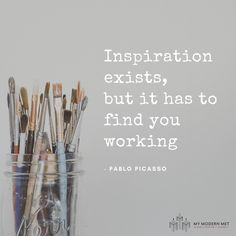 Suffering from a creative block? inspiration 19 Inspirational Quotes From True Artists to Help You Overcome a Creative Rut Quotes Thoughts, True Quotes, Quotes Quotes, Qoutes, Paint Quotes, Quotations, Food Quotes, Life Thoughts, Writing Quotes