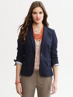 Navy Blazer - Women | Pinterest | America, Blazers and Ps