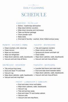 Retail Store Daily Checklist New My Daily Cleaning Schedule Connecticut In Style Cleaning Schedule Templates, Checklist Template, Cleaning Checklist, Cleaning Lists, Cleaning Schedules, Restaurant Cleaning, Daily Checklist, Goal Charts, Speed Cleaning