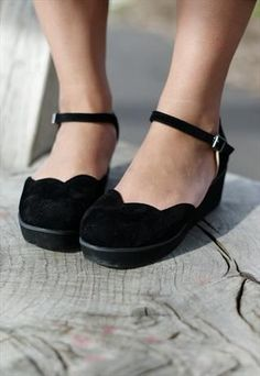 Scallop edge flatforms - I really like the mary jane style and that these could be casual as well as worn to work.