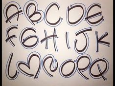 CURSO LETRA TIMOTEO GRATIS!! - YouTube Graffiti Lettering Fonts, Hand Lettering Alphabet, Doodle Lettering, Calligraphy Letters, Brush Lettering, Bubble Letters, Lettering Tutorial, Handwriting Fonts, Alphabet And Numbers