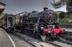 Stanier Black 5 at Llangollen railway station, North Wales - this train was built at Derby in 1944 and has been in operation at Llangollen since Photo by Brian Barnett Severn Valley, Flying Scotsman, Steam Railway, British Rail, Steamers, North Wales, Train Layouts, Steam Engine, Steam Locomotive