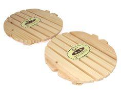 Round Wood Trivet Pair