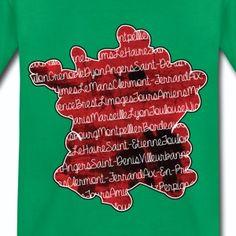 T shirt vert enfant Villes française et carte de la France  - T-shirt Premium Enfant