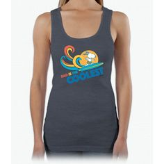 Peanuts: Coolest Dad Fathers Day Ladies Triblend Racerback Tank