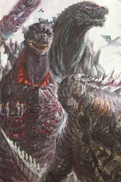 Godzilla2014 2016 and 2017
