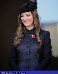 MYROYALS &HOLLYWOOD FASHİON: British Royal Family Attend Remembrance Sunday Service, November 10, 2013-Duchess of Cambridge