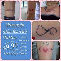 Whats 8406. 5684 #tattoo #tatuagem #tattoos #tattooist #instattoo #inktattoo #instalove #tattoopromo #tatuagemfeminina #desconto #promoção #promo #diadospais #promocaodiadospais #elemerece #homenagem #pai #dad #papai #love #lovetattoo #tattoodad #tatuadora #tattoobrasil  (em Black Magic Tattoo)