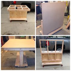 Fold-Flat 3-in-1 Workbench - good idea, has to be a way to to make it better (outfeed table)!