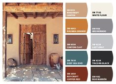 Instantly turn any picture into a palette with ColorSnap, created for you by Sherwin-Williams. House Exterior Color Schemes, Exterior Paint Colors For House, Paint Colors For Home, Exterior Colors, Rustic Color Palettes, House Color Palettes, Mexican Colors, Italian Colors, Tuscan Colors