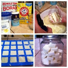 Homemade dishwasher soap tablets! These actually work!