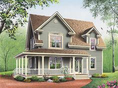 small farmhouse plans with porches | Amberly Bay Farmhouse Plan 032D-0017 | House Plans and More