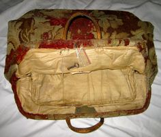 Victorian Carpet Bags Luggage | Details about Vtg 1860s VICTORIAN CARPET Bag w/ KEY - LUGGAGE Men's ...
