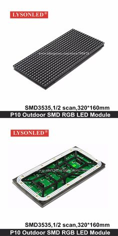 P10 Outdoor SMD3535 1/2 Scan Full Color LED Module 32*16 Pixels 320*160mm HUB75 Port Higher Brightness Choice For Video Display