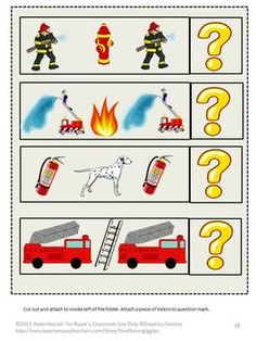 Fire Safety File Folder Games for PK-K or Special Education  Resource Collection Children with Special Needs