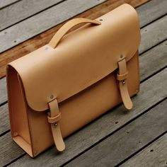 Introducing Olki. Our version of classic leather briefcase. #handmade #leather #briefcase #leathercraft