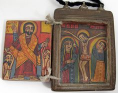 Inside | Beautiful old silver and carved wood Icon. Coptic, Ethiopia |  © Ann Porteus, Sidewalk Tribal Gallery.  To see the front of this image, please see pin http://pinterest.com/pin/145522631679650343/