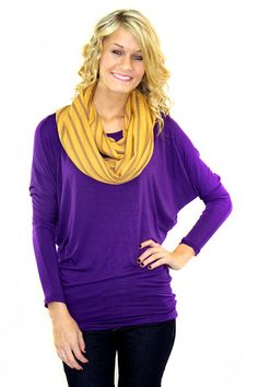 A basic but perfect top with a fabulous fit!! (95% Rayon, 5% Spandex)