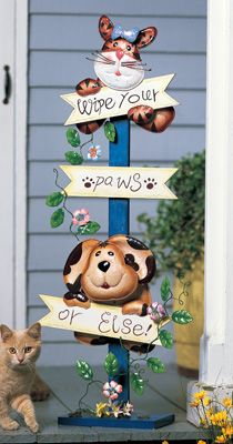 Inspiration :: Wipe Your Paws Welcome Sign