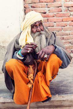 Amazing Old Man - Vrindavan, India