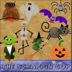 Some thumbprint characters inspired by Ed Emberley with a Halloween theme. All in .png and PU/SFH/SFO only please. Download the Hallowee...