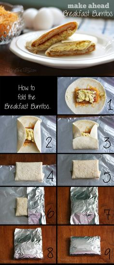 These make ahead Breakfast Burritos are great for camping! Super simple instructions with step-by-step pics, too!
