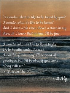 Walk in the Sun - McFly Lyrics