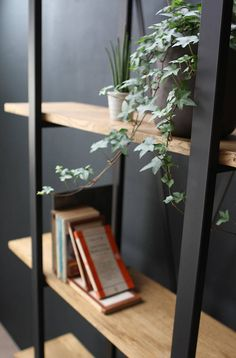 KONK Industrial/Moern Oak/Steel BOOKCASE Bespoke sizes