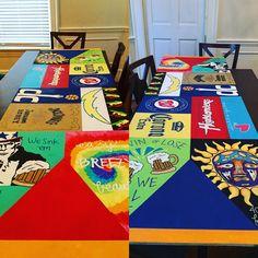 Gift boyfriend bp beer pong table painted