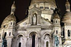 Sacre Coeur at night - Paris, France.