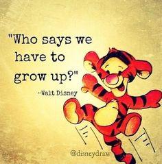 Qui a dit qu'on devait grandir ?