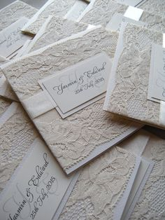 Rustic Wedding Invitation, Lace Wedding Invitation, Wedding Invitation, Gold…