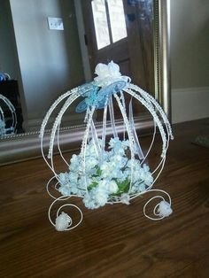 Cinderella's carriage for a birthday party centerpiece
