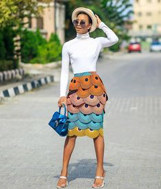 A multi layered Ankara Skirt made to fit. African Print Dresses, African Print Fashion, Africa Fashion, African Fashion Dresses, African Dress, Ankara Fashion, African Prints, African Attire, African Wear