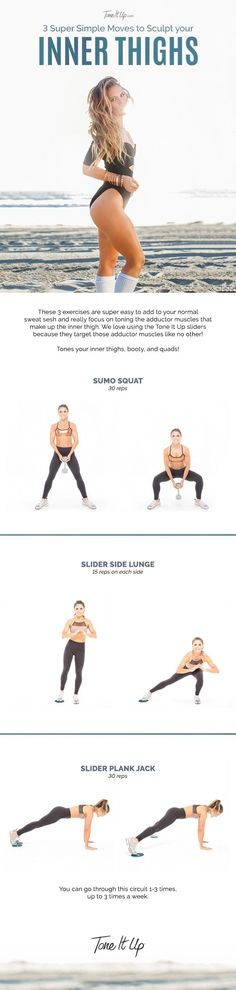 3 Super Simple Moves to Sculpt your Inner Thighs on ToneItUp.com