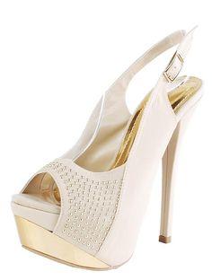 studded platform slingback heel