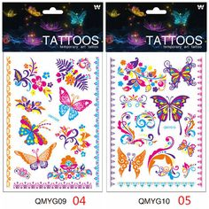 cd0f6a450 Luminous Temporary Tattoo Stickers Waterproof Fluorescent Butterfly Tattoos  For Face Body Art. Rhiannon Martinez · Ink love