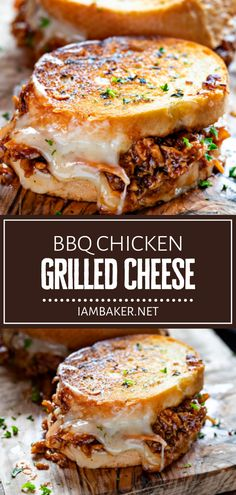 BBQ Chicken Grilled Cheese is will be a hit with the kids this summer! A flavorful french bread is pan-fried to perfection, paired with a mouthwateringly savory shredded chicken and creamy cheese. Serve with potato chips or fresh coleslaw for an impressive dinner idea! I Love Food, Good Food, Yummy Food, Best Bbq Food, Tasty, Healthy Food, Grilled Bbq Chicken, Shredded Chicken, Barbecue Chicken